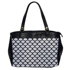Scales1 Black Marble & White Linen Office Handbags by trendistuff