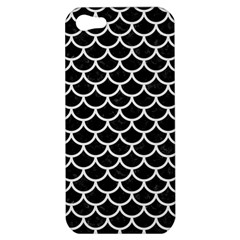 Scales1 Black Marble & White Linen (r) Apple Iphone 5 Hardshell Case by trendistuff