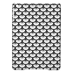 Scales3 Black Marble & White Linen Ipad Air Hardshell Cases by trendistuff