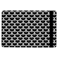 Scales3 Black Marble & White Linen (r) Ipad Air Flip by trendistuff