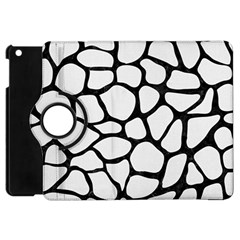 Skin1 Black Marble & White Linen (r) Apple Ipad Mini Flip 360 Case by trendistuff