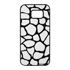 Skin1 Black Marble & White Linen (r) Samsung Galaxy S7 Edge Black Seamless Case