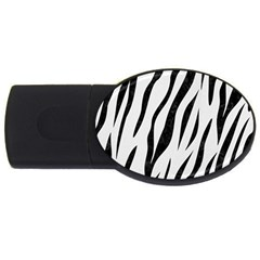 Skin3 Black Marble & White Linen Usb Flash Drive Oval (2 Gb) by trendistuff