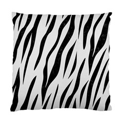 Skin3 Black Marble & White Linen Standard Cushion Case (two Sides)