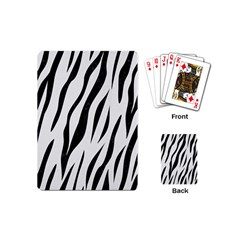 Skin3 Black Marble & White Linen Playing Cards (mini)  by trendistuff