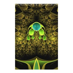 Beautiful Gold And Green Fractal Peacock Feathers Shower Curtain 48  X 72  (small)  by jayaprime
