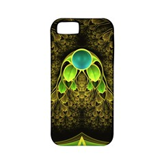 Beautiful Gold And Green Fractal Peacock Feathers Apple Iphone 5 Classic Hardshell Case (pc+silicone) by jayaprime