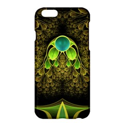 Beautiful Gold And Green Fractal Peacock Feathers Apple Iphone 6 Plus/6s Plus Hardshell Case by jayaprime
