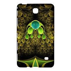 Beautiful Gold And Green Fractal Peacock Feathers Samsung Galaxy Tab 4 (8 ) Hardshell Case  by jayaprime