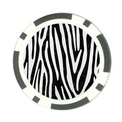Skin4 Black Marble & White Linen Poker Chip Card Guard by trendistuff