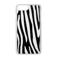 Skin4 Black Marble & White Linen Apple Iphone 8 Plus Seamless Case (white) by trendistuff