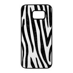 Skin4 Black Marble & White Linen (r) Samsung Galaxy S7 Edge Black Seamless Case by trendistuff