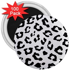 Skin5 Black Marble & White Linen (r) 3  Magnets (100 Pack) by trendistuff