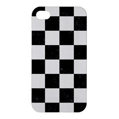 Square1 Black Marble & White Linen Apple Iphone 4/4s Hardshell Case by trendistuff