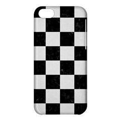 Square1 Black Marble & White Linen Apple Iphone 5c Hardshell Case by trendistuff