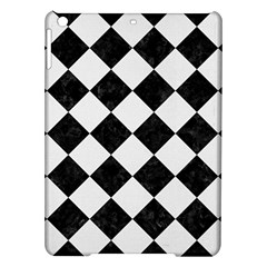 Square2 Black Marble & White Linen Ipad Air Hardshell Cases by trendistuff
