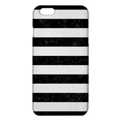 Stripes2 Black Marble & White Linen Iphone 6 Plus/6s Plus Tpu Case by trendistuff