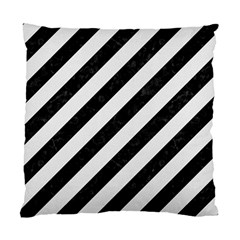 Stripes3 Black Marble & White Linen (r) Standard Cushion Case (one Side) by trendistuff