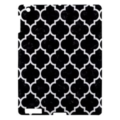 Tile1 Black Marble & White Linen (r) Apple Ipad 3/4 Hardshell Case by trendistuff