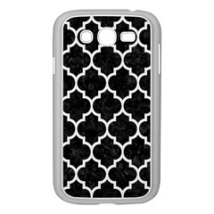 Tile1 Black Marble & White Linen (r) Samsung Galaxy Grand Duos I9082 Case (white) by trendistuff