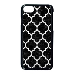 Tile1 Black Marble & White Linen (r) Apple Iphone 8 Seamless Case (black) by trendistuff