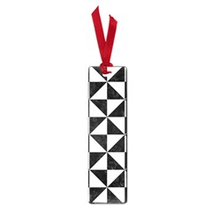 Triangle1 Black Marble & White Linen Small Book Marks by trendistuff