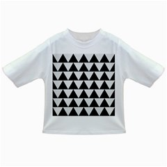 Triangle2 Black Marble & White Linen Infant/toddler T Shirts by trendistuff