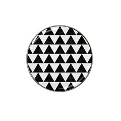 TRIANGLE2 BLACK MARBLE & WHITE LINEN Hat Clip Ball Marker