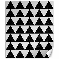TRIANGLE2 BLACK MARBLE & WHITE LINEN Canvas 8  x 10