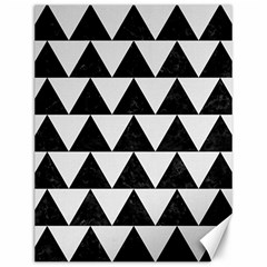 TRIANGLE2 BLACK MARBLE & WHITE LINEN Canvas 12  x 16