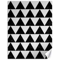 TRIANGLE2 BLACK MARBLE & WHITE LINEN Canvas 18  x 24