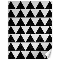 TRIANGLE2 BLACK MARBLE & WHITE LINEN Canvas 36  x 48