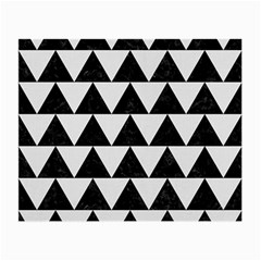 Triangle2 Black Marble & White Linen Small Glasses Cloth (2 Side) by trendistuff