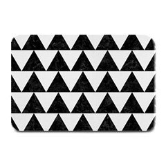 TRIANGLE2 BLACK MARBLE & WHITE LINEN Plate Mats