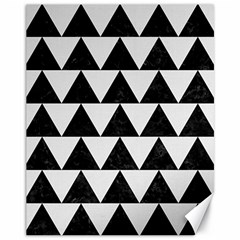 TRIANGLE2 BLACK MARBLE & WHITE LINEN Canvas 11  x 14