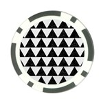 TRIANGLE2 BLACK MARBLE & WHITE LINEN Poker Chip Card Guard Front