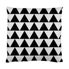 TRIANGLE2 BLACK MARBLE & WHITE LINEN Standard Cushion Case (One Side)