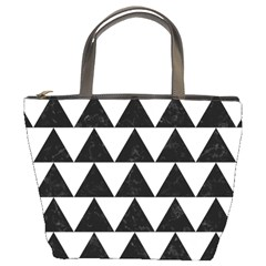 TRIANGLE2 BLACK MARBLE & WHITE LINEN Bucket Bags