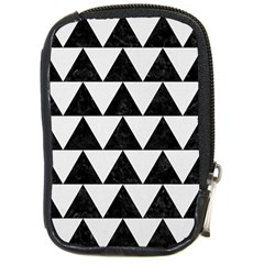 TRIANGLE2 BLACK MARBLE & WHITE LINEN Compact Camera Cases