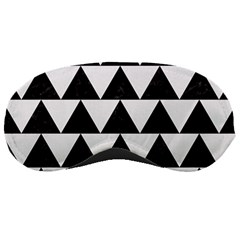 Triangle2 Black Marble & White Linen Sleeping Masks by trendistuff