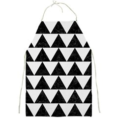 TRIANGLE2 BLACK MARBLE & WHITE LINEN Full Print Aprons