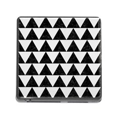 TRIANGLE2 BLACK MARBLE & WHITE LINEN Memory Card Reader (Square)