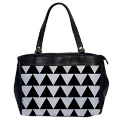 TRIANGLE2 BLACK MARBLE & WHITE LINEN Office Handbags