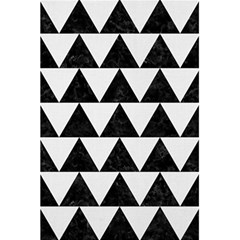 Triangle2 Black Marble & White Linen 5 5  X 8 5  Notebooks by trendistuff
