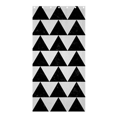 TRIANGLE2 BLACK MARBLE & WHITE LINEN Shower Curtain 36  x 72  (Stall)
