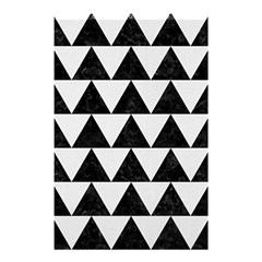 TRIANGLE2 BLACK MARBLE & WHITE LINEN Shower Curtain 48  x 72  (Small)