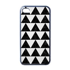 TRIANGLE2 BLACK MARBLE & WHITE LINEN Apple iPhone 4 Case (Black)