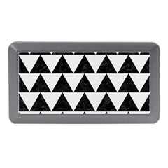Triangle2 Black Marble & White Linen Memory Card Reader (mini) by trendistuff