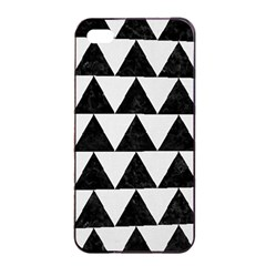 TRIANGLE2 BLACK MARBLE & WHITE LINEN Apple iPhone 4/4s Seamless Case (Black)