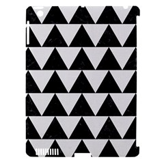 TRIANGLE2 BLACK MARBLE & WHITE LINEN Apple iPad 3/4 Hardshell Case (Compatible with Smart Cover)